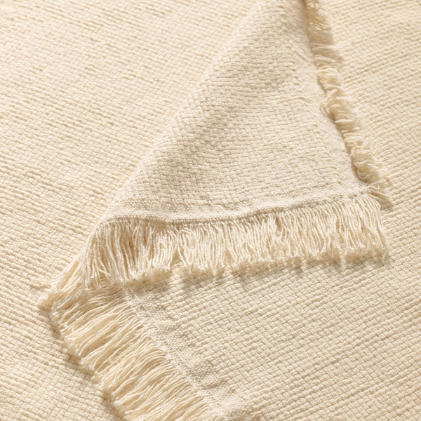 ODDRUN غطاء, لون طبيعي/بيج, 130x170 سم