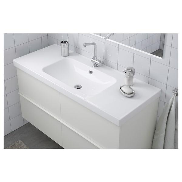 ODENSVIK Single wash-basin, 123x49x6 cm