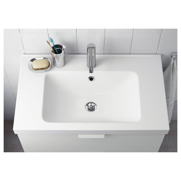 ODENSVIK Single wash-basin, 83x49x6 cm