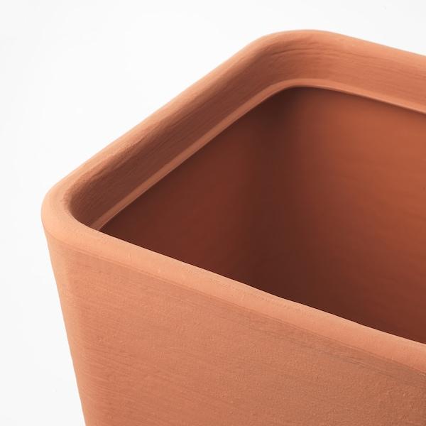 ÖSTLIG plant pot in/outdoor red-brown 37 cm 37 cm 40 cm