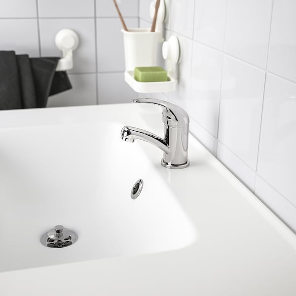 OLSKÄR wash-basin mixer tap chrome-plated 12 cm