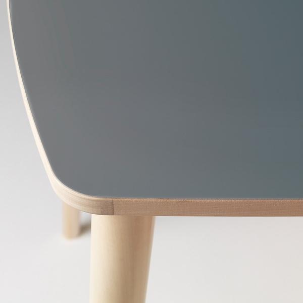 OMTÄNKSAM table anthracite/birch 95 cm 95 cm 74 cm