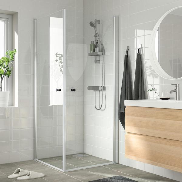 OPPEJEN Shower enclosure with 2 doors, 86x86x202 cm