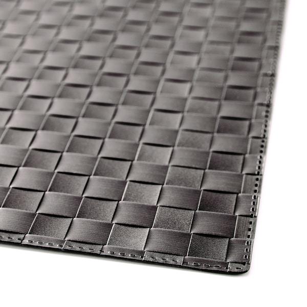 ORDENTLIG Place mat, black, 46x33 cm