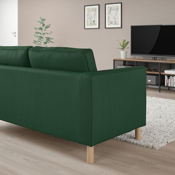 PÄRUP 3-seat sofa, Vissle dark green