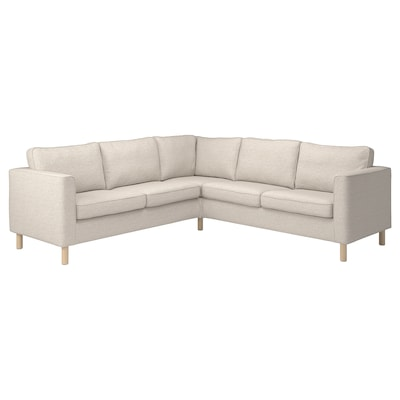 PÄRUP Corner sofa, 4-seat, Gunnared beige