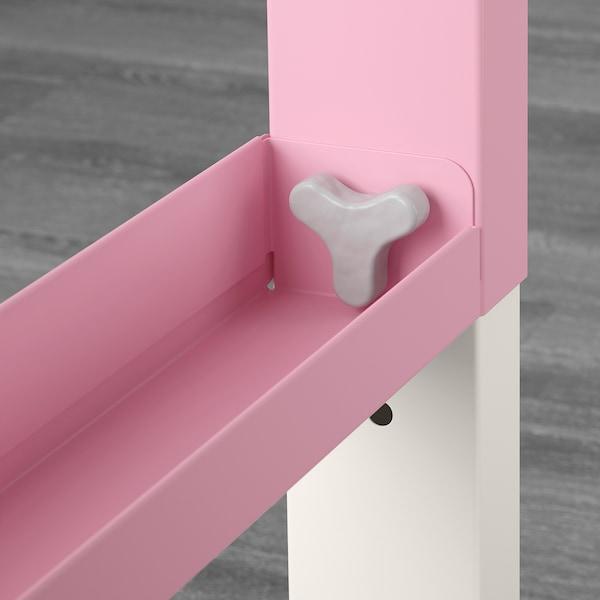 PÅHL Desk with add-on unit, white/pink, 96x58 cm