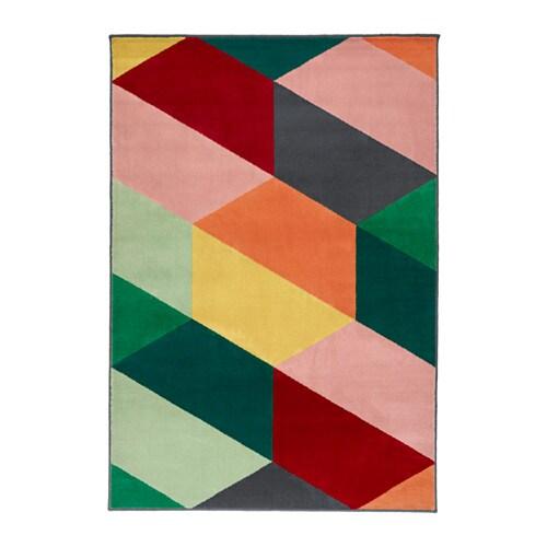 PANDRUP Rug, low pile, multicolour
