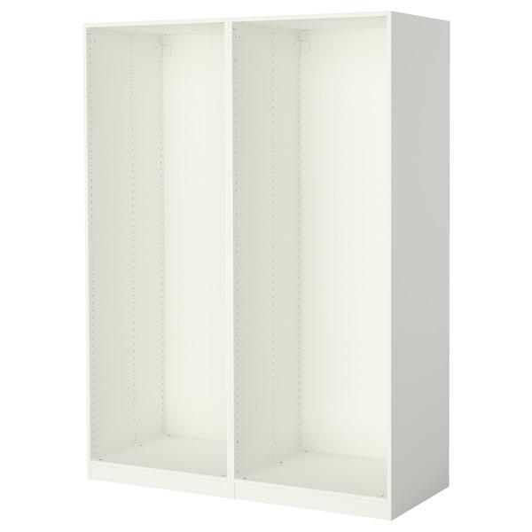 PAX هيكلي دولاب ملابس, أبيض, 150x58x201 سم