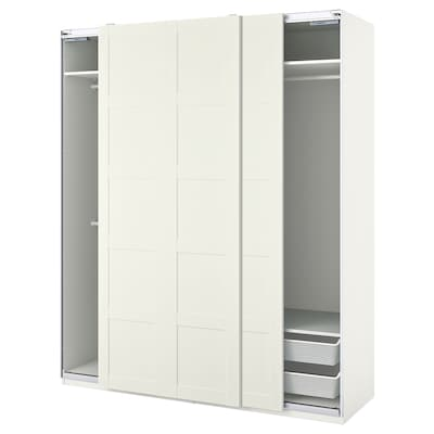 PAX / BERGSBO تشكيلة دولاب ملابس., أبيض, 200x66x236 سم