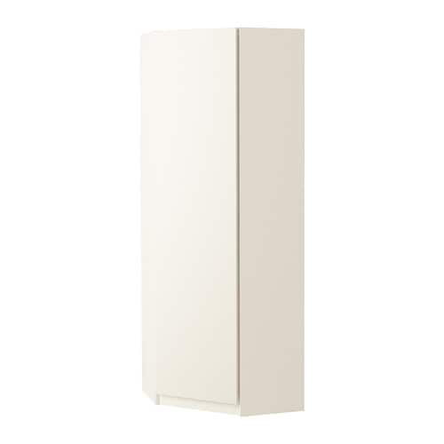 PAX Corner wardrobe IKEA Frame with small depth; ideal for limited spaces.
