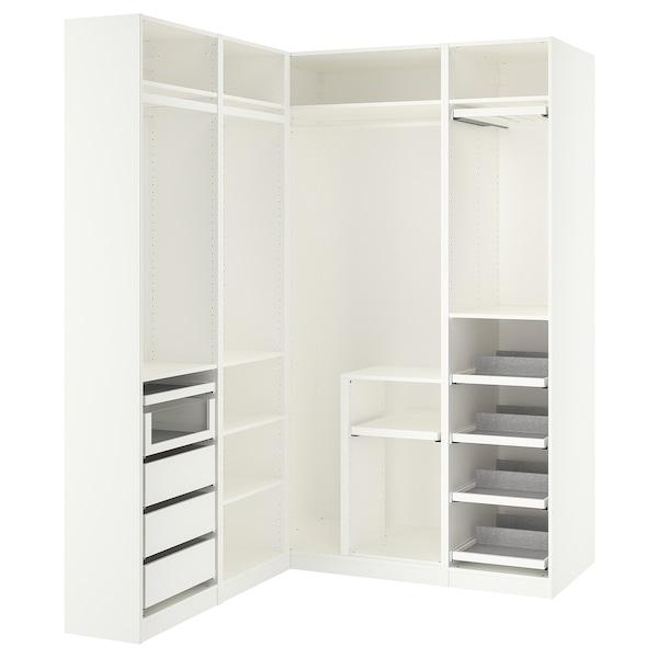 PAX Corner wardrobe, white, 160/163x236 cm