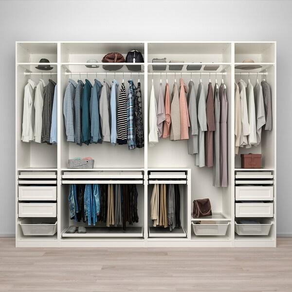 PAX / TYSSEDAL تشكيلة دولاب ملابس., أبيض/أبيض, 300x60x236 سم