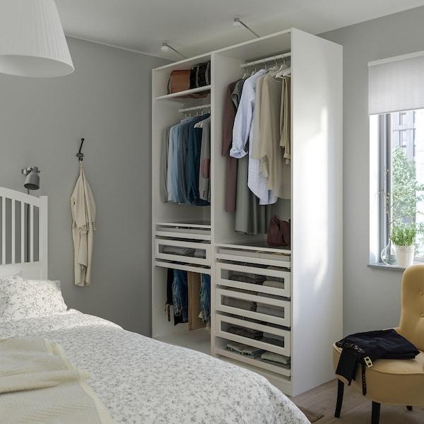 PAX تشكيلة دولاب ملابس., أبيض, 150x58x236 سم