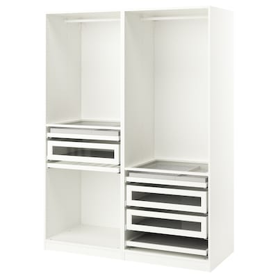 PAX تشكيلة دولاب ملابس., أبيض, 150x58x201 سم