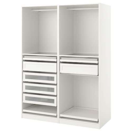 PAX wardrobe combination white 150.0 cm 58.0 cm 201.2 cm