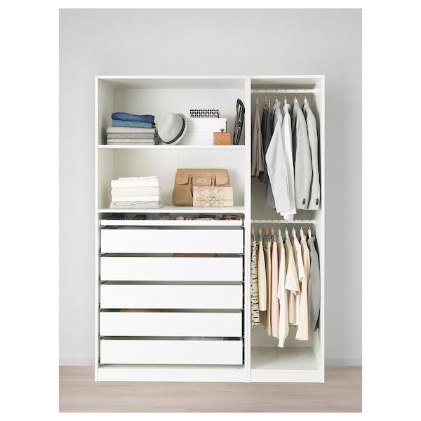 PAX دولاب ملابس, أبيض, 150x58x201 سم