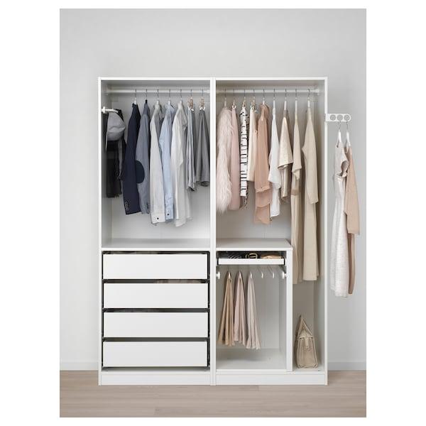 PAX wardrobe white 150 cm 58 cm 201.2 cm
