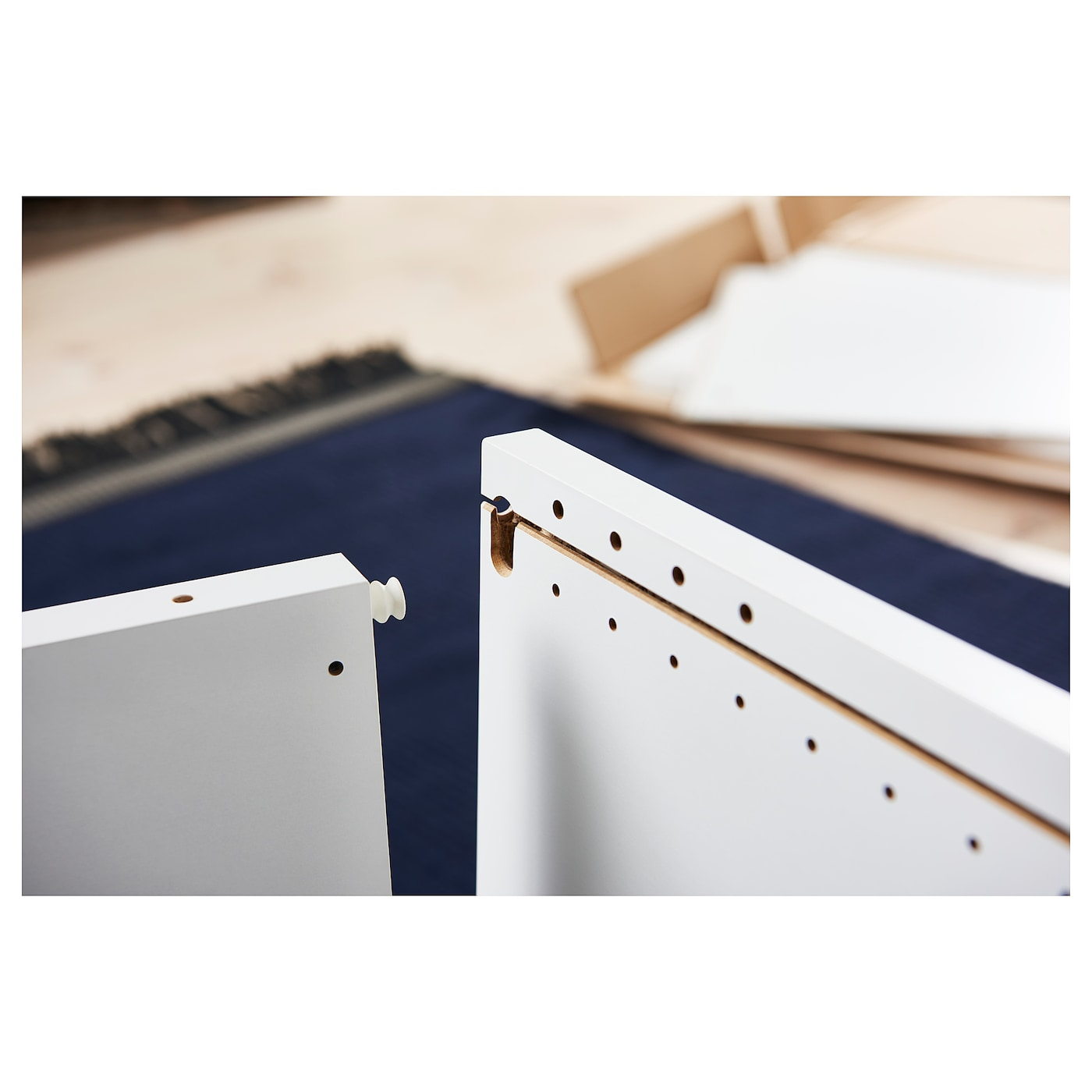 PLATSA هيكل, أبيض, 60x55x180 سم