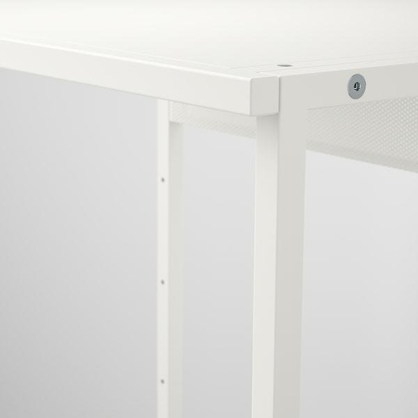 PLATSA وحدة تعليق مفتوحة للملابس, أبيض, 80x40x120 سم