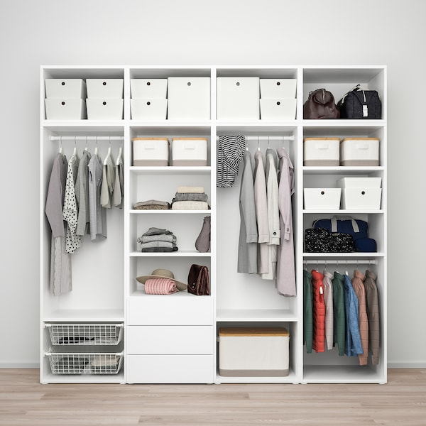 Platsa دولاب ملابس 7 أبواب 3 أدراج أبيض Sannidal Ridabu Ikea