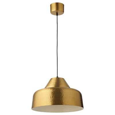 PLATTLÄNS Pendant lamp, brass-colour