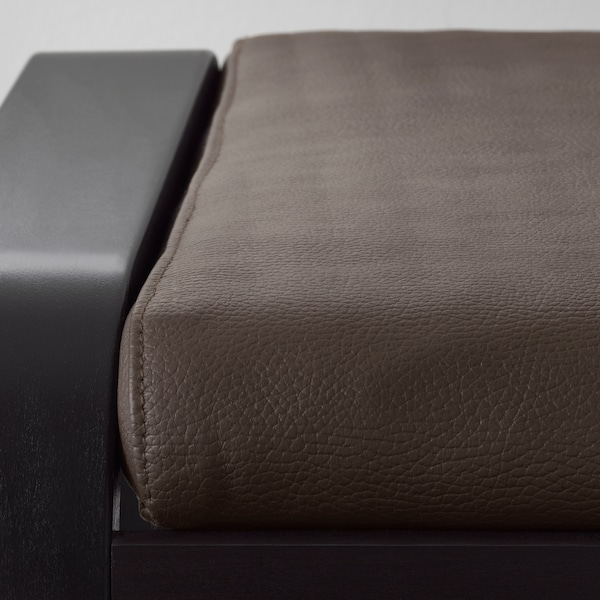 POÄNG مسند قدم, أسود-بني/Glose بني غامق