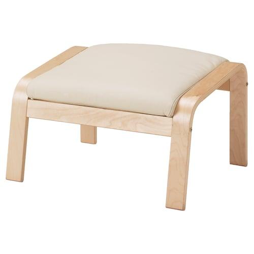 POÄNG footstool birch veneer/Glose eggshell 68 cm 54 cm 39 cm