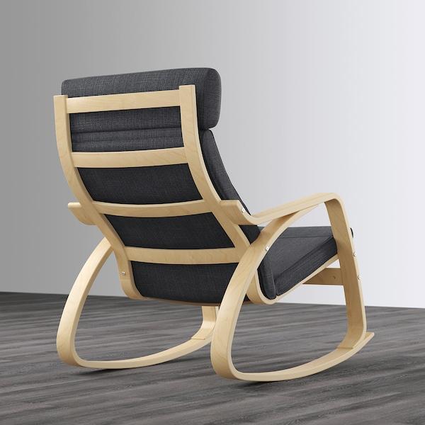 POÄNG Rocking-chair, birch veneer/Hillared anthracite