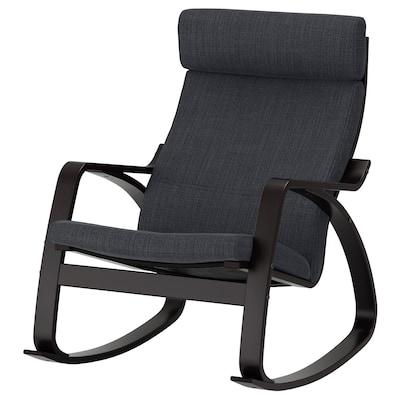 POÄNG كرسي هزّاز, أسود-بني/Hillared فحمي