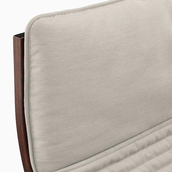POÄNG Rocking-chair, brown/Knisa light beige