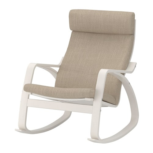 Po ng rocking chair hillared beige ikea - Chaise rocking chair ikea ...