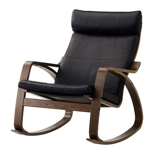 po ng rocking chair smidig black ikea. Black Bedroom Furniture Sets. Home Design Ideas