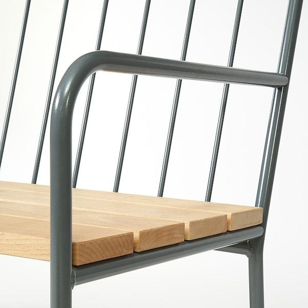PRÄSTHOLM bench with backrest, outdoor grey 113 cm 52 cm 79 cm 107 cm 39 cm 44 cm