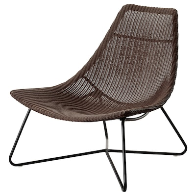 RÅDVIKEN كرسي بذراعين, بني غامق/أسود
