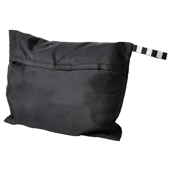 RÄCKLA كيس، قابل للطي, أسود, 75x45 سم/55 ل