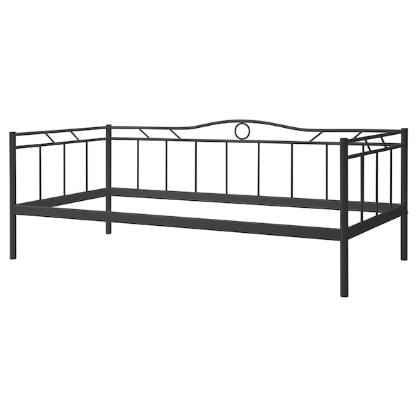 RAMSTA day-bed frame with slatted bed base black 210 cm 97 cm 80 cm 200 cm 90 cm