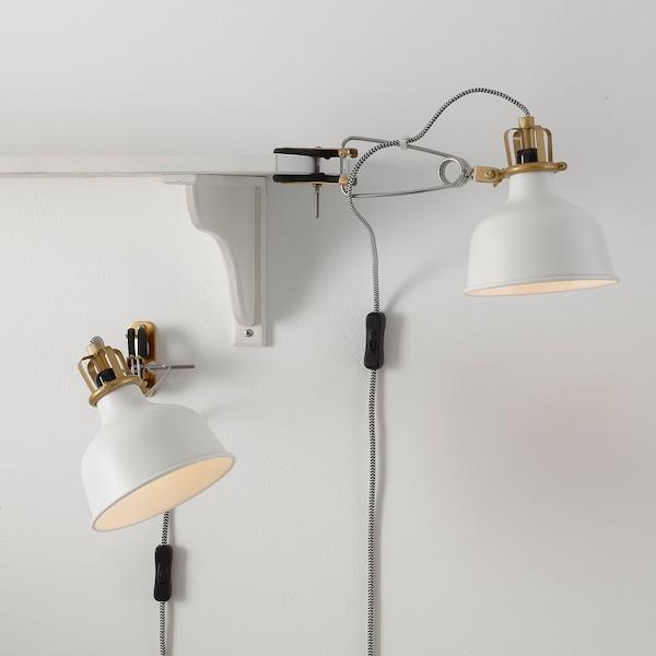 RANARP مصباح توجيهي للحائط, أبيض-عاجي