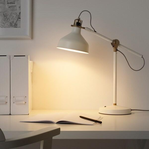 RANARP مصباح مكتب, أبيض-عاجي