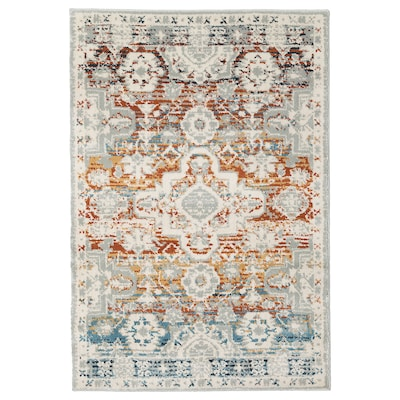 RANDBÖL Rug, low pile, multicolour, 80x120 cm