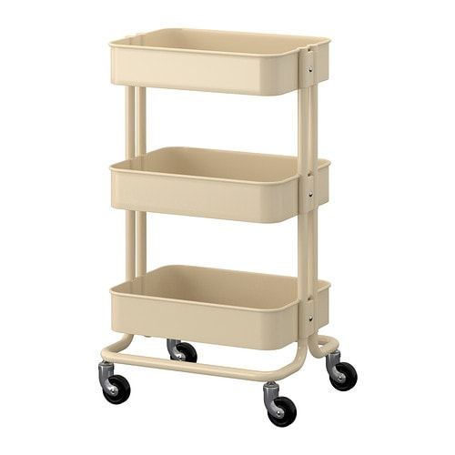 RÅSKOG Trolley IKEA The sturdy construction and four castors make it easy for you to move the trolley and use it wherever you like.