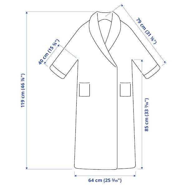 RASTÄLVEN Bath robe, dark grey, L/XL