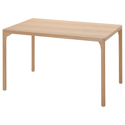 RÅVAROR Dining table, oak veneer, 130x78 cm