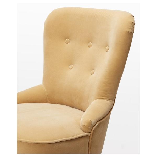 REMSTA كرسي بذراعين, Djuparp أصفر-بيج