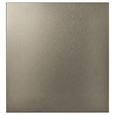 RIKSVIKEN Door, light bronze effect, 60x64 cm