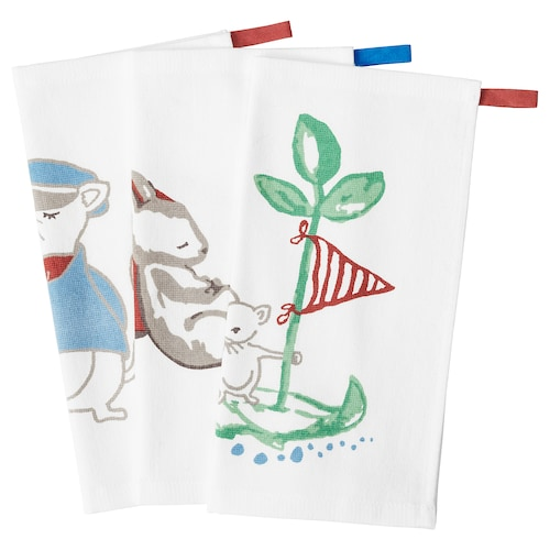 RÖDHAKE washcloth sailing mouse 30 cm 30 cm 3 pack