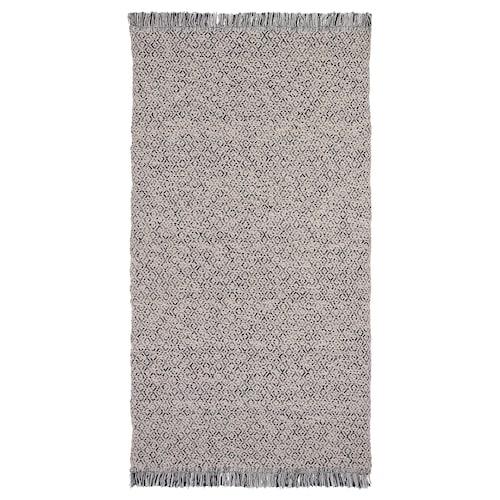 RÖRKÄR rug, flatwoven black/natural 150 cm 80 cm 1.20 m² 1200 g/m²