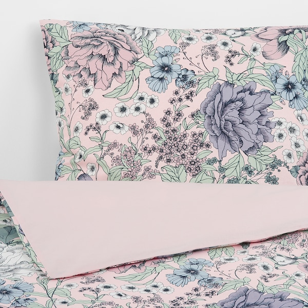 RUNDSTARR Duvet cover and 2 pillowcases, 240x220/50x80 cm