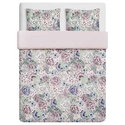 RUNDSTARR Quilt cover and 2 pillowcases, 240x220/50x80 cm