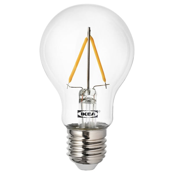 RYET لمبة LED E27 100 lumen, كرويّة شفاف